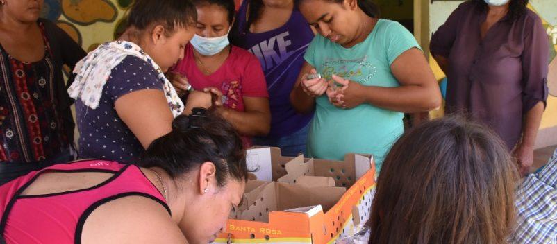 Fundación REDES, realizó la entrega de pollos  y malla para la instalación de gallineros en la comunidad La Mora de Suchitoto.
