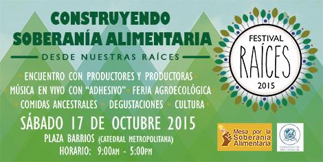 Invitación Festival Raíces 2015