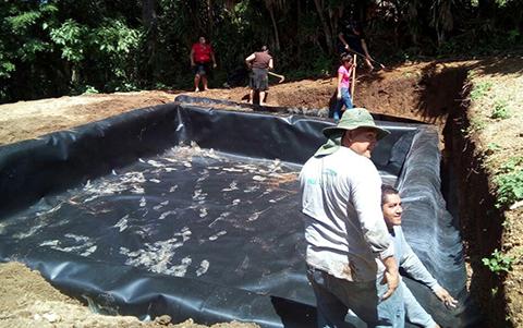 Organización comunitaria presente en la construcción de reservorios