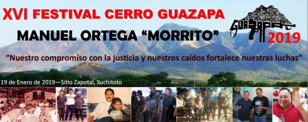 Invitación XVI Festival Cerro Guazapa