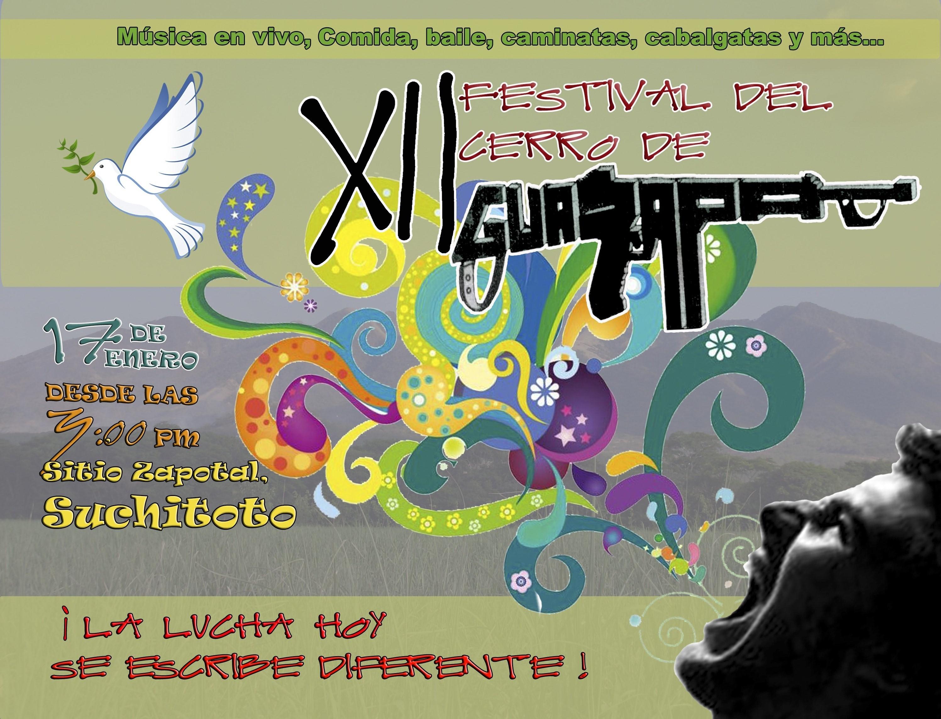 Invitación al XII Festival del Cerro de Guazapa