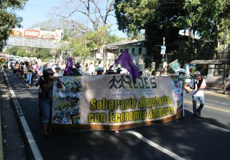 Comunidades y Organizaciones marchan por el Derecho al Agua y a la Alimentación